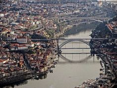 Porto / Portugal Spain And Portugal, Portugal Travel, Porto City, Douro Valley, Famous Places, Most Beautiful Cities, Countries Of The World, Aerial View, City Photo