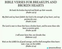 Bible verses for a breakup