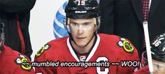 Toews doing captain things
