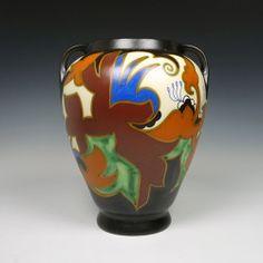 Goedewaagen, an art deco vase. Decor 'Beuk'.