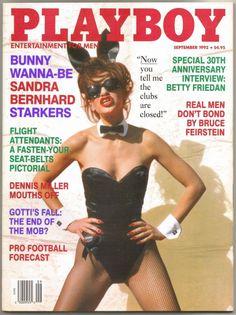 Playboy Sept 1992 Gift Present Original Vintage Glamour Magazine Sandra Bernhard Sandra Bernhard, Playboy Enterprises, Dennis Miller, Man Close, Playmates Of The Month, Glamour Magazine, Playboy Bunny, Vintage Glamour, Real Man