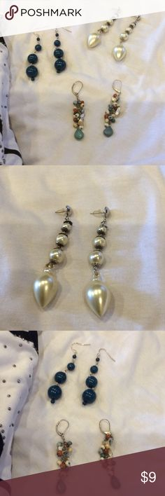 3 beautiful earring Excellent condition Jewelry Earrings