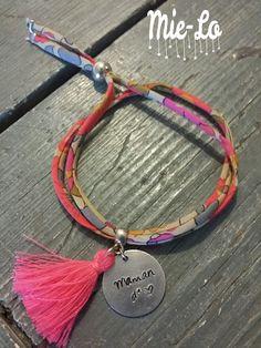 Bracelet Liberty personnalisé fête des mères