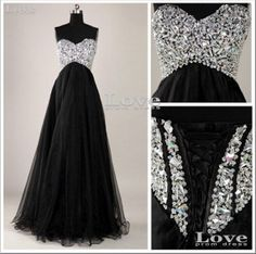 Custom Made Black A-Line Floor-Length Prom Dresses, Graduation Dresses, Cheap Evening Dress,Formal Dresses on Etsy, $189.99