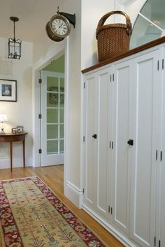 tall cabinets w/ peekaboo ledge