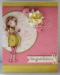 Expecting Emily by Simonne Clay #SCRS #SparkleCreations #cards #cardmaking #rubberstamps