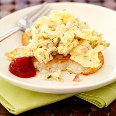"This is a nice twist on the usual potato and egg breakfast. Leave an extra ""stack"" in the refrigerator for a quick, microwave-reheatable meal. #recipe #WWLoves 4 SmartPoints"