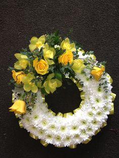 funeral flowers   Blocked Funeral Tribute Flowers