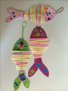 Basteln crafts for kids, fish crafts und kids, parenting. Ocean Crafts, Fish Crafts, Diy And Crafts, Arts And Crafts, Paper Crafts, Beach Crafts, Projects For Kids, Diy For Kids, Crafts For Kids