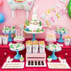 home party ideas Kids Dessert Table, Dessert Table Birthday, Birthday Party Desserts, Kids Birthday Themes, Birthday Party Centerpieces, 9th Birthday Parties, Birthday Candy, Kids Party Themes, Party Table Decorations