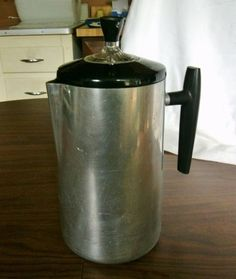 "Vintage ""LUPA"" Neapolitan coffee pot made in Italy 50s aluminum"