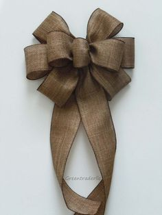 Rustic Burlap Wedding Pew Bow Rustic Fall Burlap Wreath Bow Christmas Burlap Bow Vineyard Wedding Church Bow Burlap Decoration Chair Bow ~ Wedding Wreaths ~ It's Wedding Time!Something like this maybe and then once its on the pew im going to put some Burlap Christmas, Christmas Bows, Burlap Bows, Burlap Wreath, Wedding Pews, Wedding Church, Bow Wedding, Wedding Wreaths, Wedding Bouquets