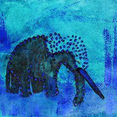 Featured Art - Blue Elephant  by Geckojoy