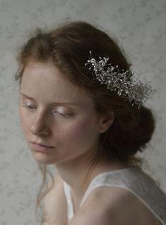 ślubna ozdoba do wlosów perełki