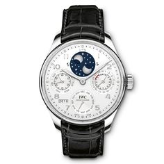 IWC releases its first platinum-cased Portugieser with a perpetual calendar.