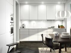 Ikea kitchen gallery white kitchen images furniture design for bedroom ikea small kitchen gallery White Kitchen Appliances, Kitchen Cabinetry, Black Kitchens, Kitchen Flooring, Home Kitchens, Ikea Kitchens, Kitchen Black, Kitchen Units, Ikea Small Kitchen Table
