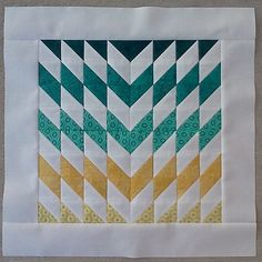 MQG Member Spotlight: Christine Slaughter - Do you see the half square triangles? Small Quilts, Mini Quilts, Easy Quilts, Chevron Quilt, Quilt Block Patterns, Quilt Blocks, Quilting Projects, Quilting Designs, Half Square Triangle Quilts Pattern