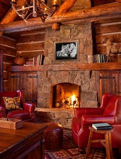 47 extremely cozy and rustic cabin style living rooms moonlight basin, cabin fireplace, fireplace Cabin Fireplace, Rustic Fireplaces, Fireplace Design, Stone Fireplaces, Fireplace Ideas, Fireplace Facing, Tiled Fireplace, Log Cabin Living, Cozy Living Rooms
