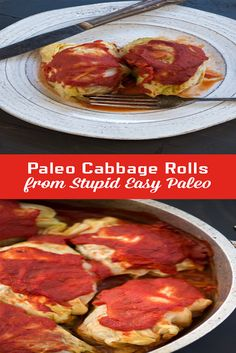 These Paleo Cabbage Rolls are hearty and freeze well so you can prep them ahead of time. Super tasty and grain-free! Grain-free & Whole30. | StupidEasyPaleo.com