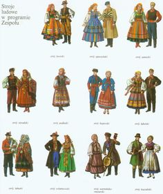 Polish folk costumes.                                       Pisanki inspiration