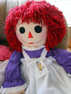 Just for you Gina   Raggedy Ann Doll Handmade - 36 Inches - Custom Orders - Free Personalization. $85.00, via Etsy.