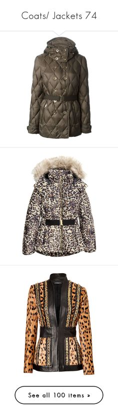 """""""Coats/ Jackets 74"""" by singlemom ❤ liked on Polyvore featuring outerwear, jackets, padded jacket, burberry jacket, brown jacket, burberry, double breasted jacket, leopard print, leopard stretch belt and h&m jackets"""