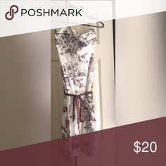 Strapless Dress New without tags! Never worn. Beautiful brown and cream floral dress. Strapless. Teeze Me Dresses Midi
