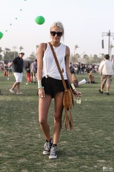 Kylie Cusick wearing Stone Cold Fox // Coachella 2013 Street Style. Photo by Oliver Scherillo