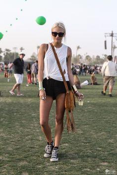 Kylie Cusick wearing Stone Cold Fox // Coachella 2013 Street Style. Photo by Oliver Scherillo