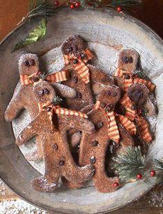 Primitive Gingerbread Boy Ornies - E-Pattern