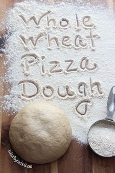 Easy Whole Wheat Pizza Dough Recipe from baked by Rachel - whole wheat dough stays soft. Pizza Recipes, Bread Recipes, Cooking Recipes, Wheat Pizza Dough Recipe, Whole Wheat Pizza, Bread Baking, Love Food, Yummy Food, Favorite Recipes