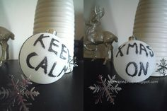 Vivere a piedi nudi living barefooted: Keep Calm and Xmas On! DIY Christmas decoration