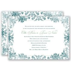 Washed Silhouette - Gem - Invitation
