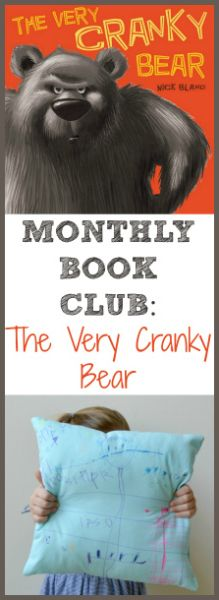 Monthly Book Club {The Very Cranky Bear} With craft and treat!-Great book to pair with self control unit Funny Books For Kids, Great Books, Bear Crafts, Kids Crafts, The Very Cranky Bear, Parts Of A Book, Preschool Lesson Plans, Author Studies, Control Unit