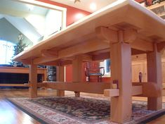 Craftsman Timber Frame Furniture - asian - dining tables - vancouver - Craftsman Timber Frame Ltd. Furniture Projects, Furniture Plans, Wood Projects, Diy Furniture, Furniture Design, Craftsman Furniture, Timber Furniture, Rustic Furniture, Asian Dining Tables