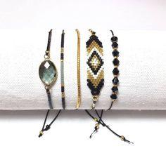 Bracelets assortis réglables par composition de 5
