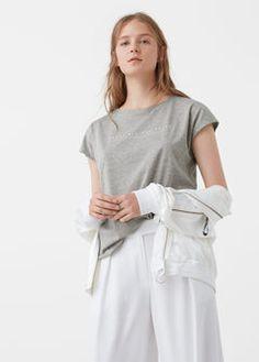 T-shirt algodão modal