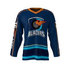 12ee5cfe21f Kawasaki  75 BLAZERS Dark Blue Ice Hockey Jersey Men Polyester High Quality  Dry Fit Youth   Adults Collage Hockey Shirts Jerseys-in Hockey Jerseys from  ...