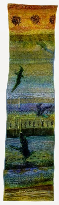 C. June Barnes  . . . 19 years of work . . . 19 textile galleries . . . Skybird is found in Gallery 9 from the year 2000 . . .