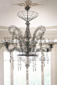Angelus Shadow Black Wire Chandelier, via Rockett St George