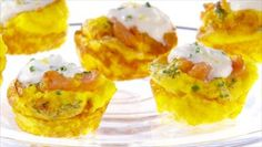 Mini Smoked Salmon Frittatas with Chive Creme Fraiche by Giada De Laurentiis