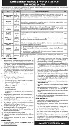 Pakhtunkhwa Highways Authority PKHA Jobs 2021