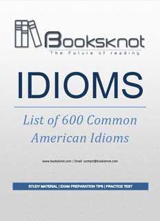 Idioms Book Pdf