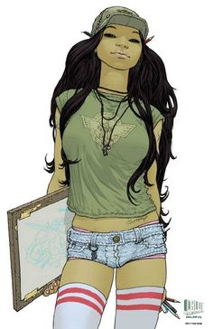 Art Gal by Frank Quitely. ✤ || CHARACTER DESIGN REFERENCES | キャラクターデザイン | çizgi film • Find more at https://www.facebook.com/CharacterDesignReferences & http://www.pinterest.com/characterdesigh if you're looking for: #grinisti #ebony #banda #desenhada #black #nakakatawa #dessin #anime #komisch #manga #bande #dessinee #BD #historieta #sketch #strip #cartoni #animati #comic #afroamerican #afro #cartoon || ✤