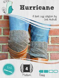The Hurricane Boot Cuff Free Knitting Pattern