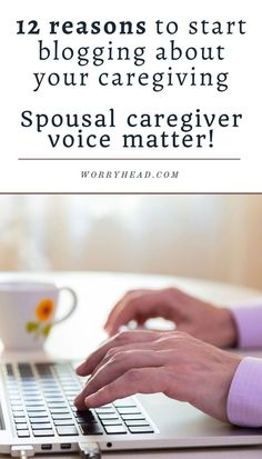 12 Reasons to start blogging about your caregiving. Spousal caregiver's voice matters! Why should you start blogging about your caregiving? There are plenty of benefits! My reason for it was the realization that there was a lack of information about what I do and what I do is quite remarkable! I speak up for those who don't. I raise awareness of the forgotten voices of spousal caregivers who struggle daily to balance caregiving and relationships. #blogging #caregiving Mental Health Blogs, Health And Wellness, Top Blogs, Neurology, Caregiver, Chronic Illness, The Voice, How To Start A Blog, Psychology