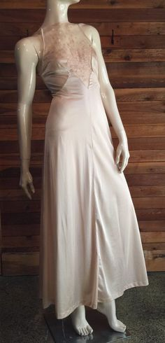 4a282f304b4 VINTAGE J C PENNEY BEIGE SIZE PETITE NIGHTGOWN with LACE BODICE  fashion   clothing  shoes  accessories  vintage  womensvintageclothing (ebay link)