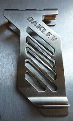 Oakley Men's Metalworks Everyday Carry EDC Money Clip - Everyday Carry Gear #edcgear Everyday Carry Gear, Fly Fishing Tips, Edc Tools, Edc Gear, Survival Gear, Metal Working, Oakley, Money Clips, Pocket Knives