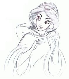 Jasmine Concept Sketch By Mark Henn ★ || Art of Walt Disney Animation Studios ©…