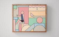 Stephen Baker uses thick keylines and colour blocking to form his minimal pictorials.
